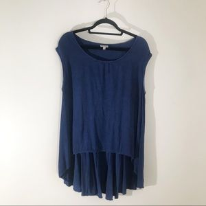 Anthropologie The Odells Blue High Low Tunic in M